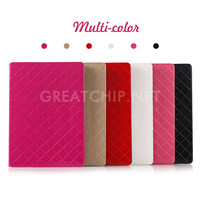 High Quality Colorful Glossy Folder PU Stand Leather Case For iPad Pro