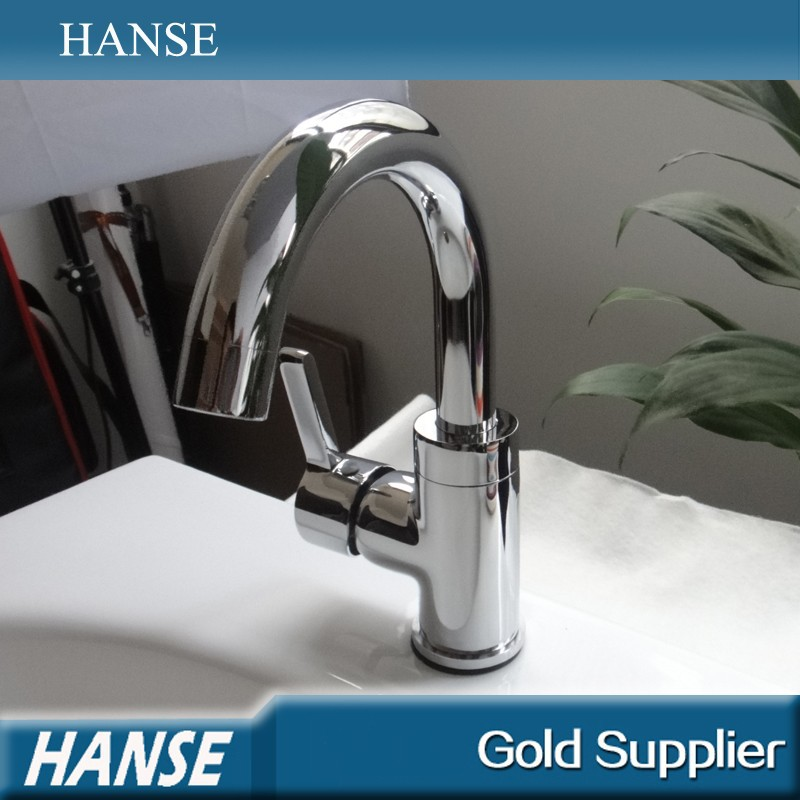 HS-F9773 Foshan produce cheap polished deck mounted kitchen mixer taps