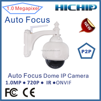 Hichip 1MP IP Camera P2P Outdoor Pan Tilt Zoom with auto focus 2.8-12mm lens