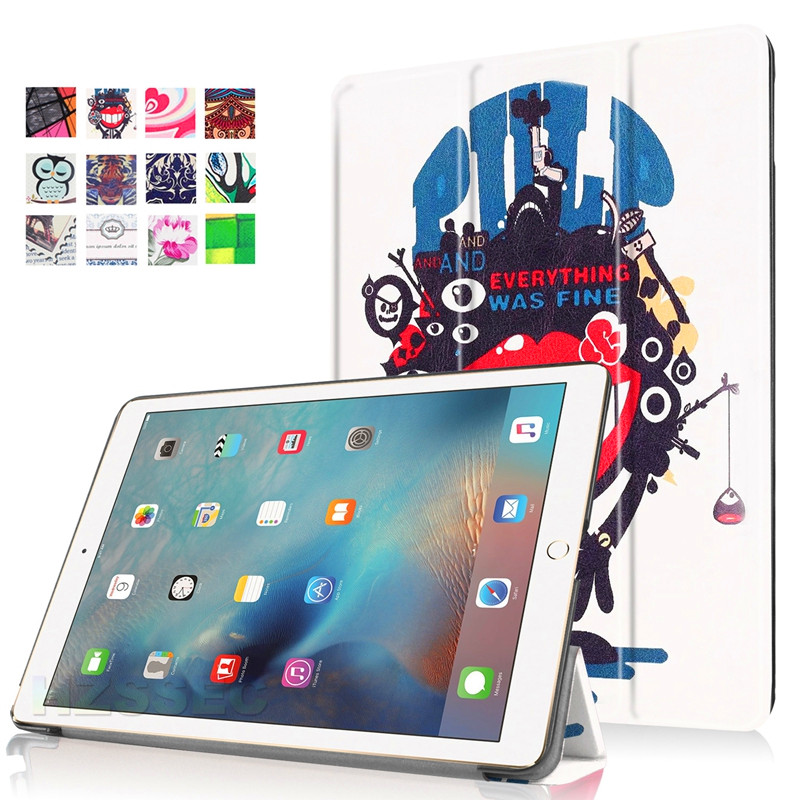 Cartoon Images Leather Lightweight Cover TPU Back Case for Apple iPad Pro 9.7 inch Tablet