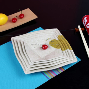irregular modern unbreakable plastic hotel tableware melamine dinner plate set