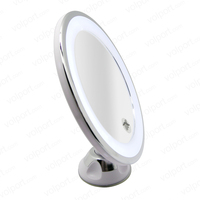 new popular Round shape 7x magnication makeup rotation cosmetic mirror with led light