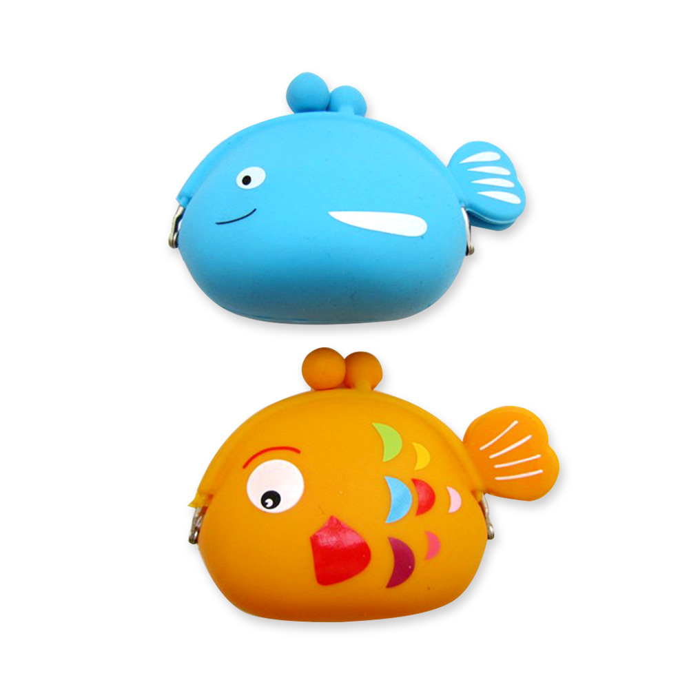 Customized fashion cartoon animal shape silicone coin purse for gift