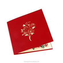 Fancy China Customed New Styles Paper cut greeting card