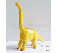 small PVC plastic orange dinosaur kingdom model toy