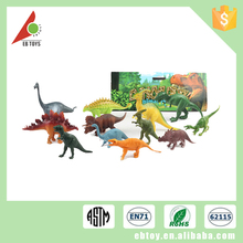 Custom 6 inches plastic PVC pretend dinosaur wild animal models toy