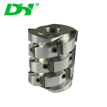 Woodworking jointer planer helical spiral dredge shaper cutter head with best carbide knife