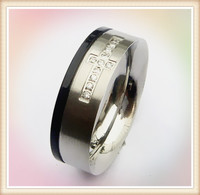 Alibaba golden supplier wholesale Nicely polished Men's Stainless Steel christian rings with embeded CZ cross