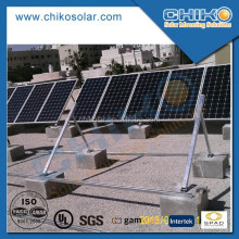 Flat roof solar mounting triangular structure solar racking system