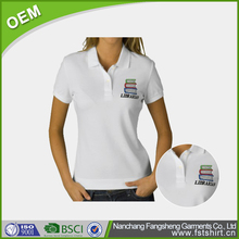 Women embroidery polo shirt OEM dry fit sports polo t shirt for sale