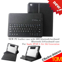 NEW PU+ABS leather bluetooth keyboard case ,bluetooth 3.0 keyboard case for Apple IPAD 5 Air 5th Generation ,black
