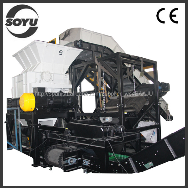 High efficiency rubber shredder machine/used tire shredder/plastic shredder crusher machine