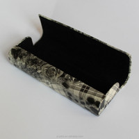 leather metal glasses case for optical eyewear case fashion