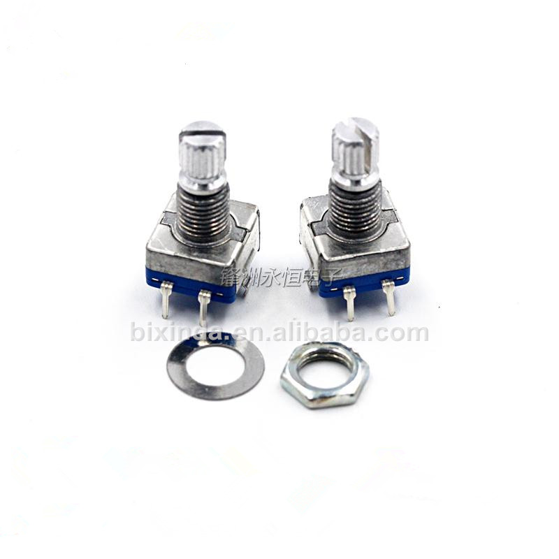 Plum blossom handle 15mm rotary encoder/Rotary Encoder switch/EC11/Digital potentiometer/with switch 5 feet