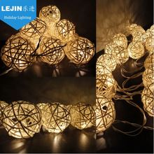 Popular CE christmas led rattan ball lights