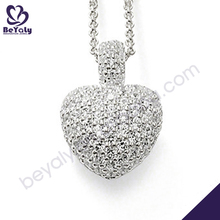 Beauty heart design silver bijoux gemstone point pendants