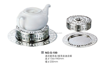 Stainless Steel Hollow Teapot Warmer With The Bottom Plate For Hotel