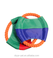 Pet dog toys United States Cotton rope chew toys for dogs Frisbee toy