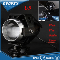 OVOVS Motorcycle Motorbike Headlight Upper Low Beam & Flash U5 LED Motorcycle Light 12V