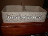 Home White Marble Designing Sink