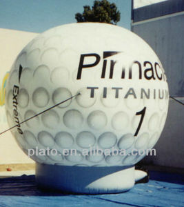 Large inflatable golf balloon with base / logo for advertising