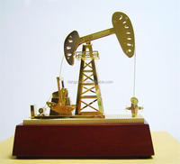 wholesale Christmas gifts of metal art oil rig model