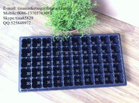 Custom PS Black Plastic Material Plastic Nursery Seed Propagation Tray