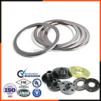 ANSI corrugated metallic Gasket with integral Outer Ring