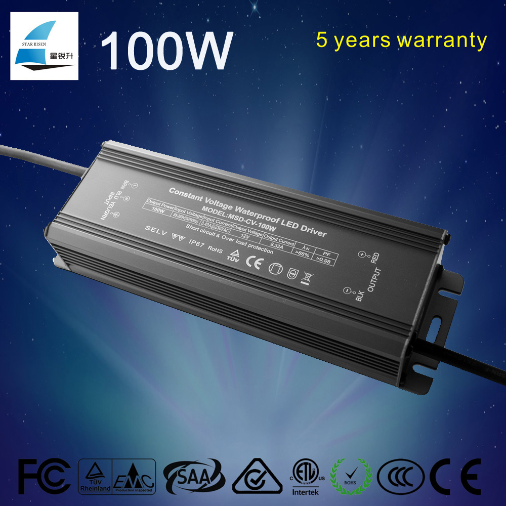 Fairchild IC cob led driver 100w 36v waterproof IP67 with 5 years warranty