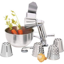 Hand spinner stainless food chopper salad chef as seen on TV