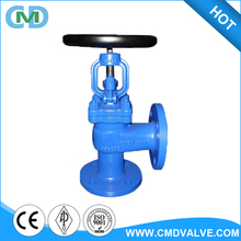 DIN Cast Steel GS-C25 90 Degree Water Angle Globe Valve with Handwheel