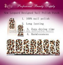 Leopard Designed Nail Polish Patch Nail Sticker Printing