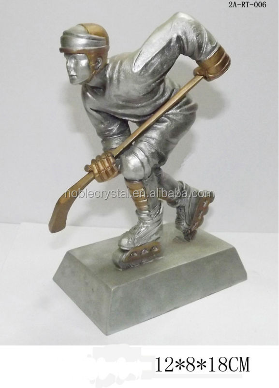 china manufacturer new product resin ice hockey award resin hockey trophy