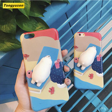 Wholesale TPU Kawaii squishy squeeze toy cell phone back cover 3D doll squishy phone case for iPhone 5 6 7 plus