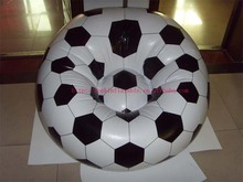 soccer shaped air chair inflatable sofa with ball shape air furniture