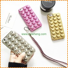 Lovely 3D hearts electroplating cell phone case for iphone 7