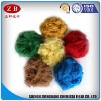 dope dyed PET bottles recycled polyester staple fiber price