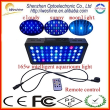 CE RoHS PSE FCC Certifications Coral Reef Used LED Aquarium Light With Fan Cooling System and 90degree lens