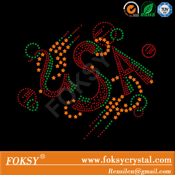 USA rhinestone and rhinestuds hot fix design