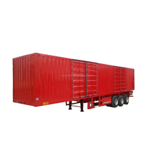 HYCH factory distribute 3 axles box cargo trailer with cheap price
