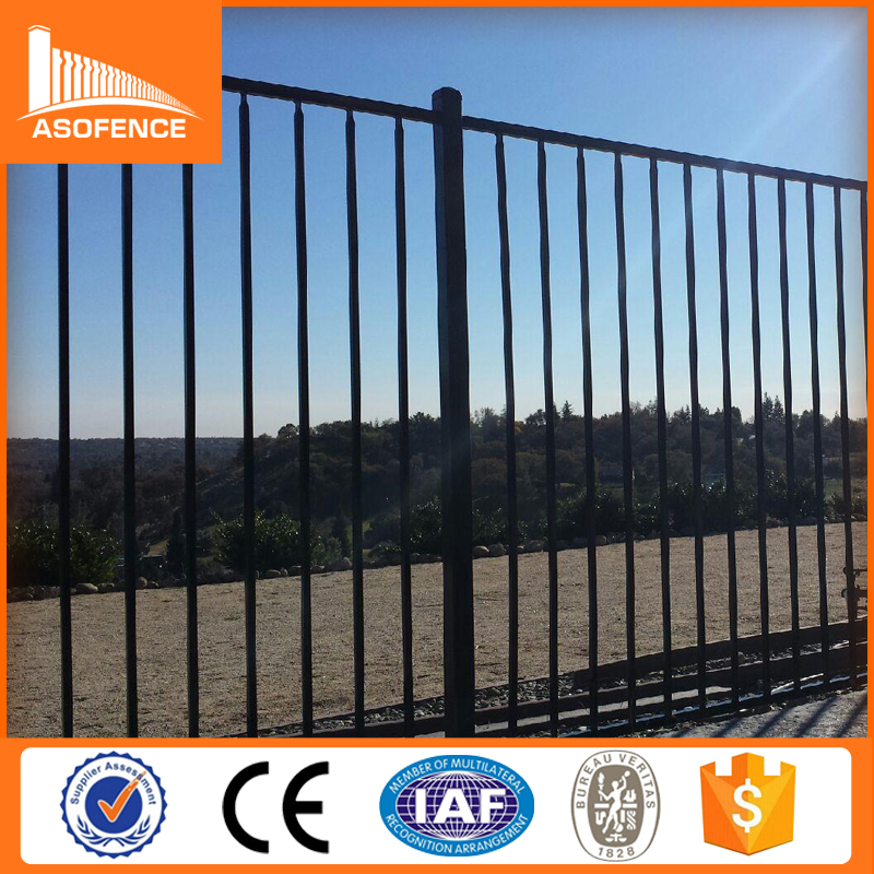 New products solid steel fence, steel grid fence, square steel fence posts