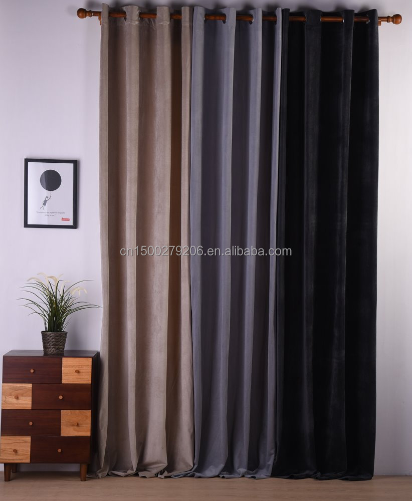 elegant design different color eyelet pattern blackout curtain for meeting room