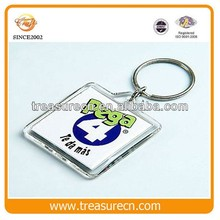 Custom Acrylic Plastic Photo Insert Cheap Promotional Keychain