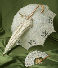 handmade elegant white lace wedding fans