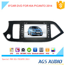 Car DVD GPS Stereo for KIA PICANTO 2014 In Dash Navigation Receiver with Capacitive Digital Touch Screen