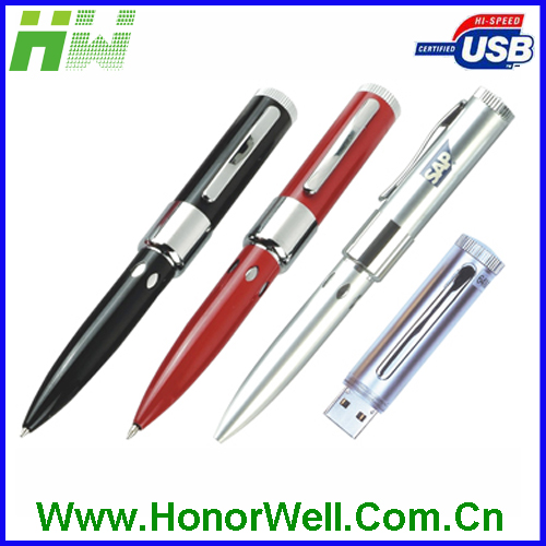 Metal pen shape cheap usb flash drives wholesale with free logo