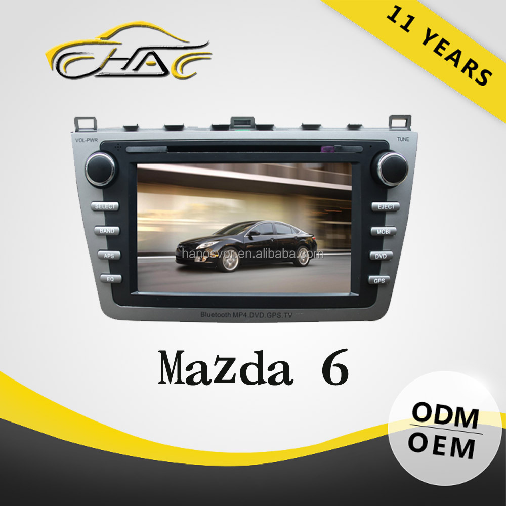 HANOSVOR 2 Din In Dash 8inch Touch Screen Car DVD Player GPS Navigation Multimedia System for MAZDA 6