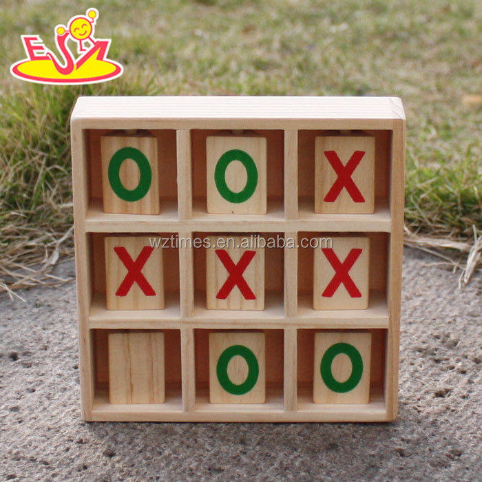 Wholesale interesting tic tac toe toy wooden board game toy for relieve pressure W01A160