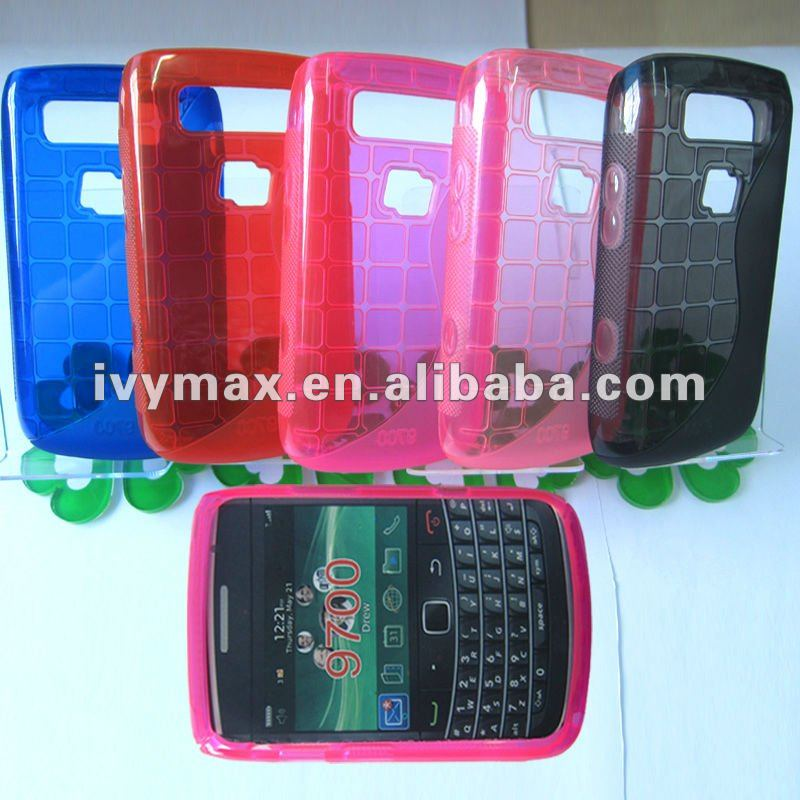 Soft TPU Gel Case S-line Hybrid Wave Case for Blackberry Bold 9700 New