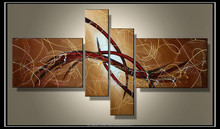 4 sets abstract group oil painting for hotel decoration